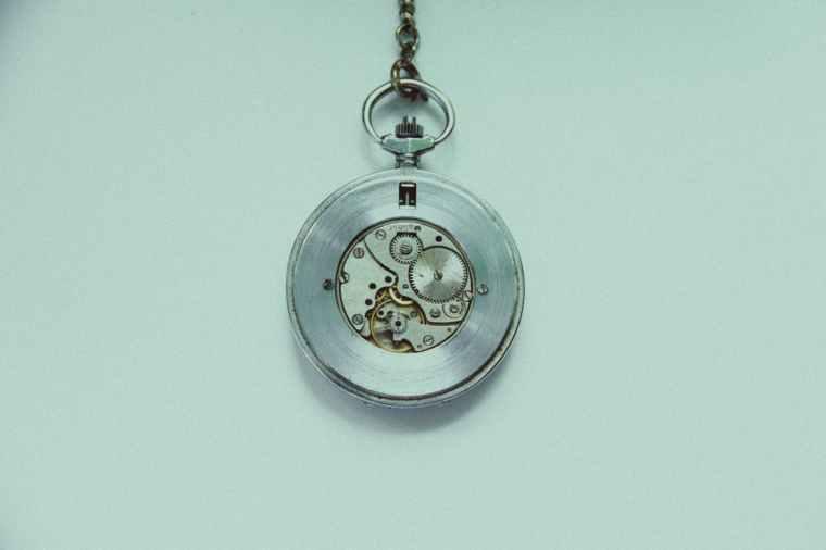 accessory chrome clock decoration